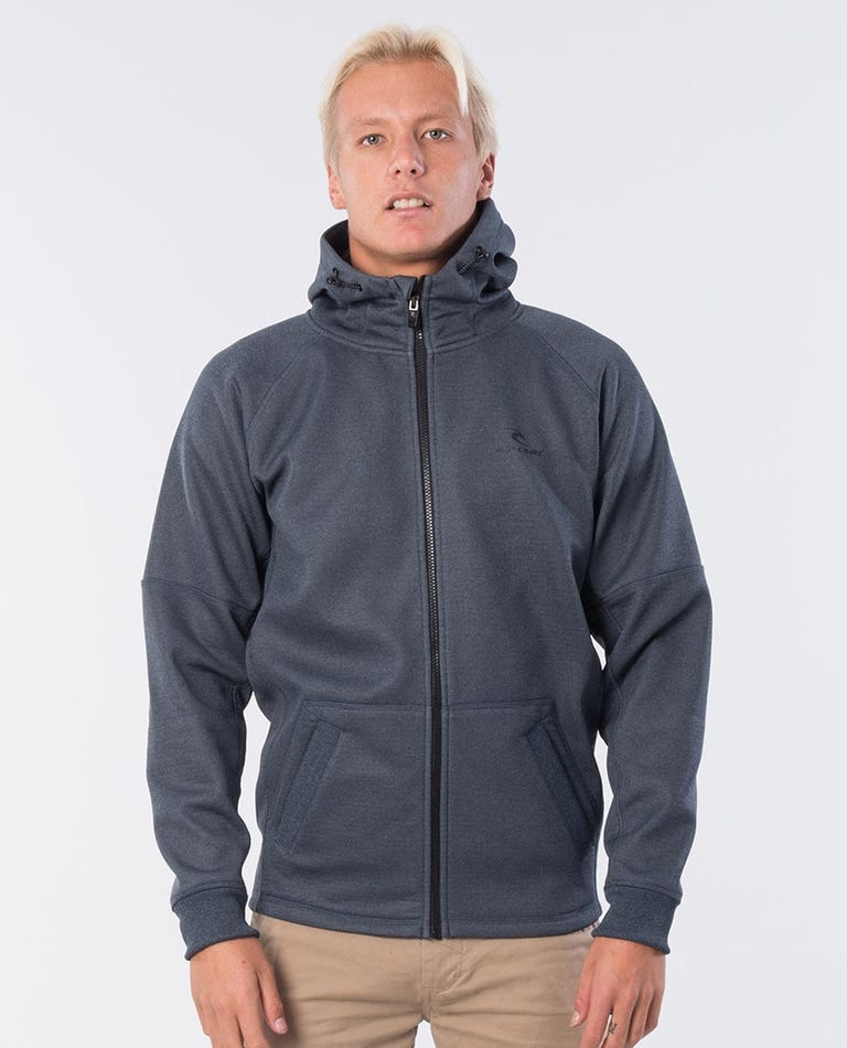 Storm Anti-Series Zip Thru Hooded Jumper in Navy Marle