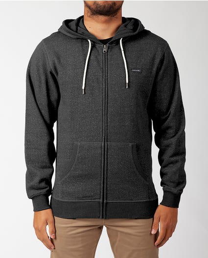 Core Zip Up Hoodie in Black