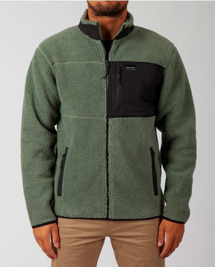 Big Bear Zip Up Jacket in Green