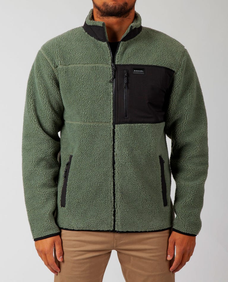 Big Bear Zip Up Jacket in Green