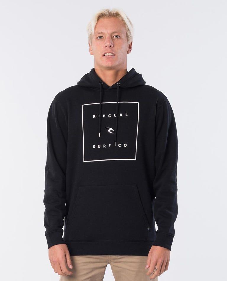 Squared Hooded Jumper in Black
