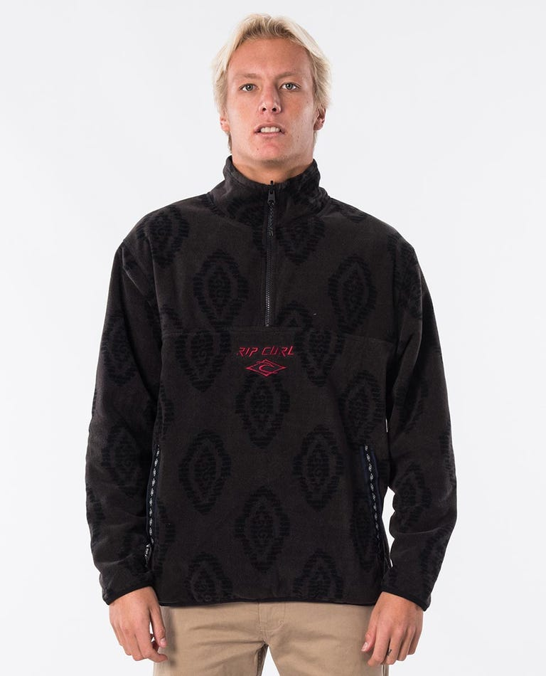 Aztec Revo Zip Thru Crew in Navy