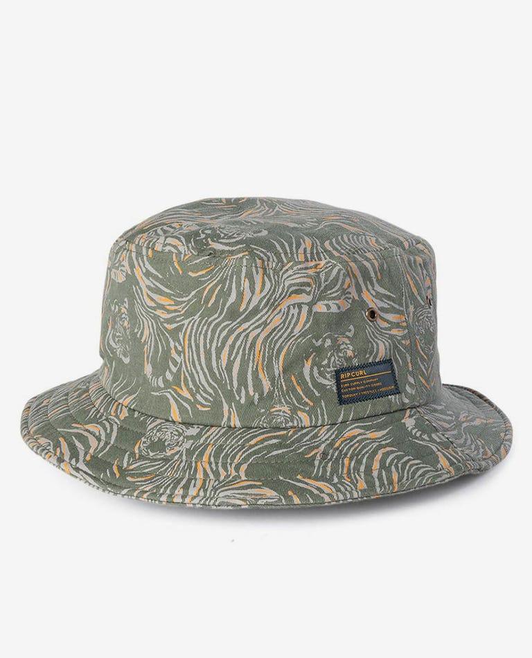 El Tigre Wide Brim Hat in Dark Olive