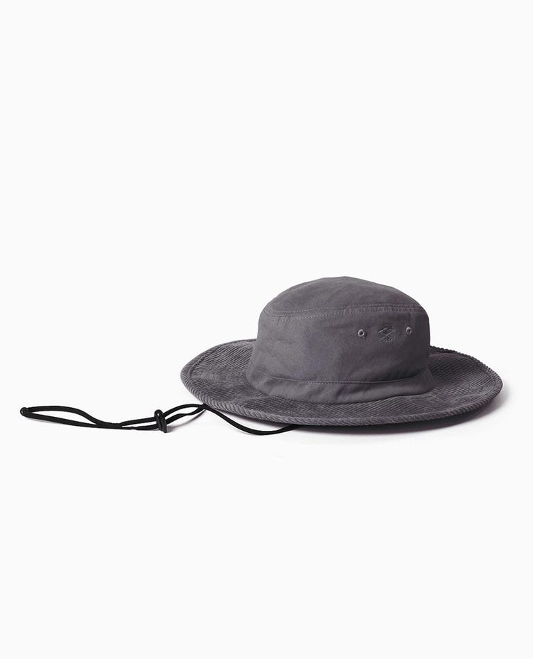 Search Wide Brim Hat in Washed Black