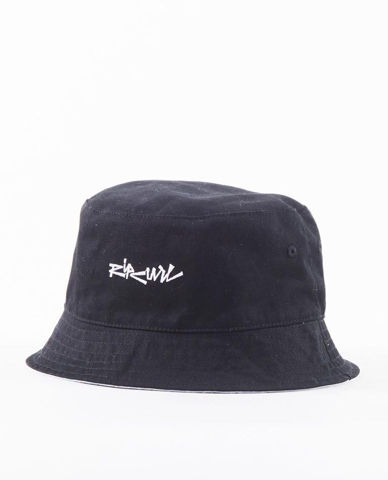 Surf Heads Bucket Hat in Black
