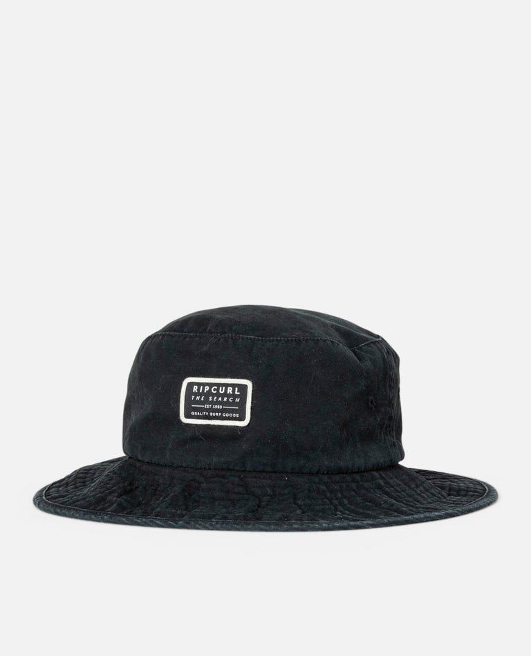 Crusher Wide Brim Hat in Black