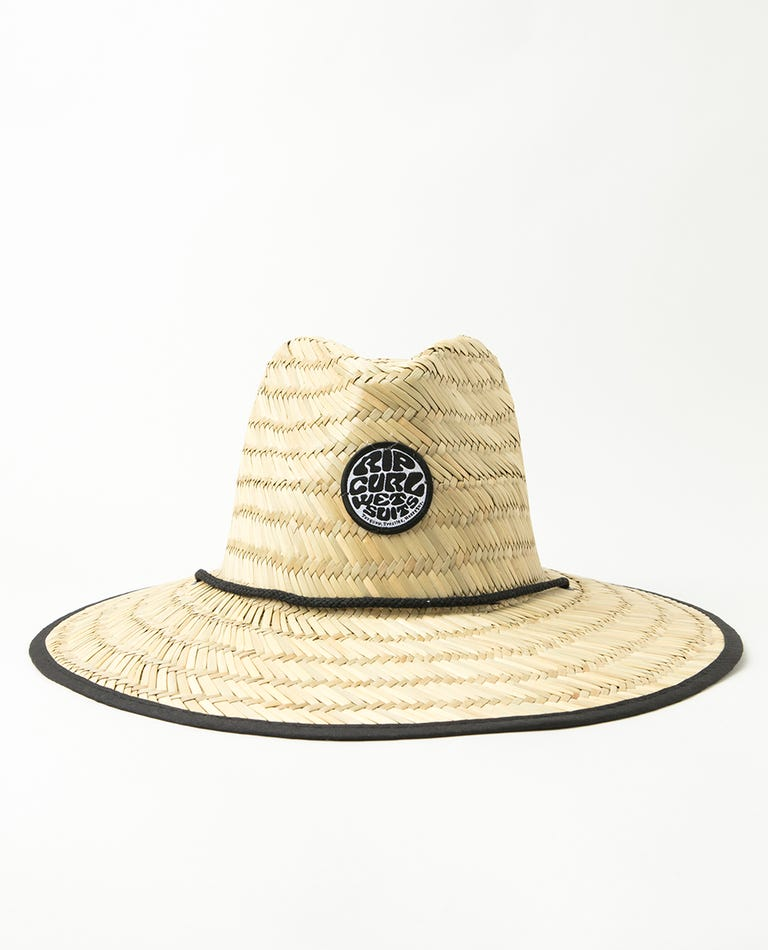 Wetty Straw Hat in Black