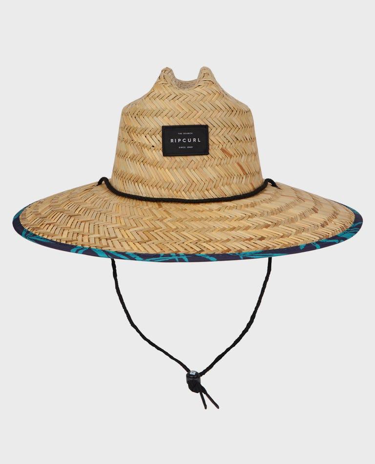 Pool Side Straw Hat in Navy
