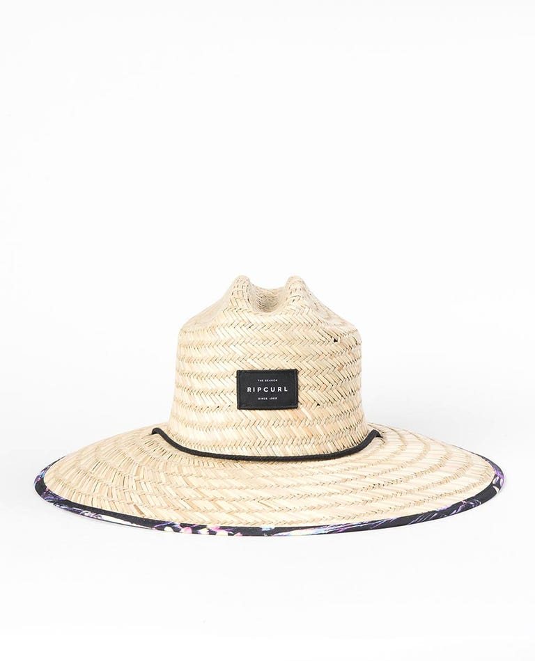 Aloha Straw Hat in Black