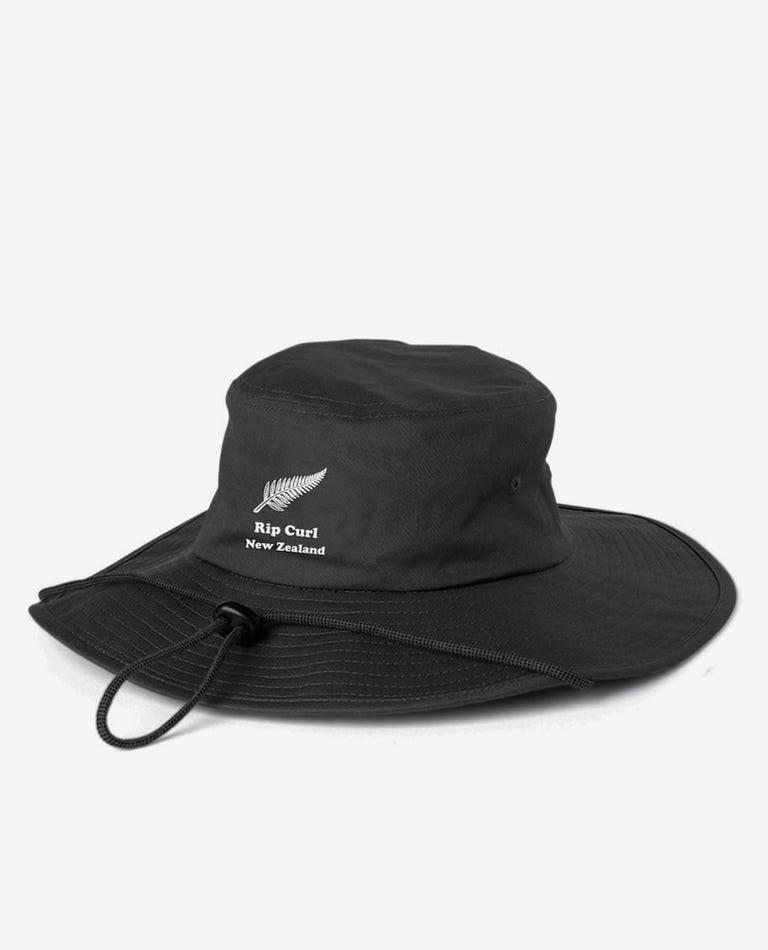 2019 Novelty Nz Wide Brim Hat in Black