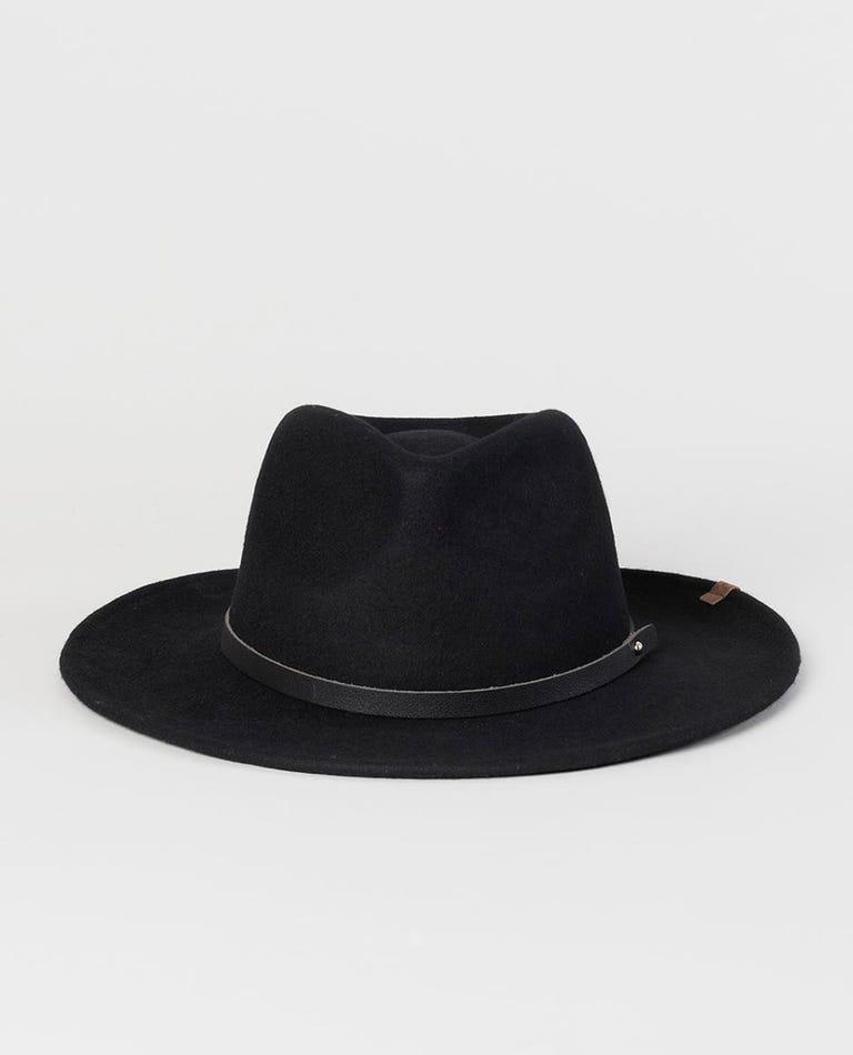 Big Les Fedora Hat in Black