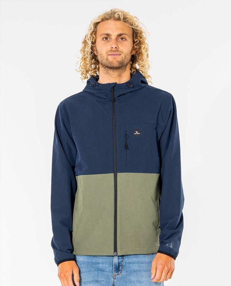 Elite Anti-Series Zip Through Jacket in Navy