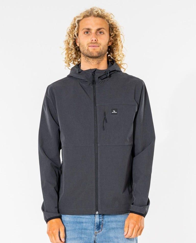Elite Anti-Series Zip Through Jacket in Black