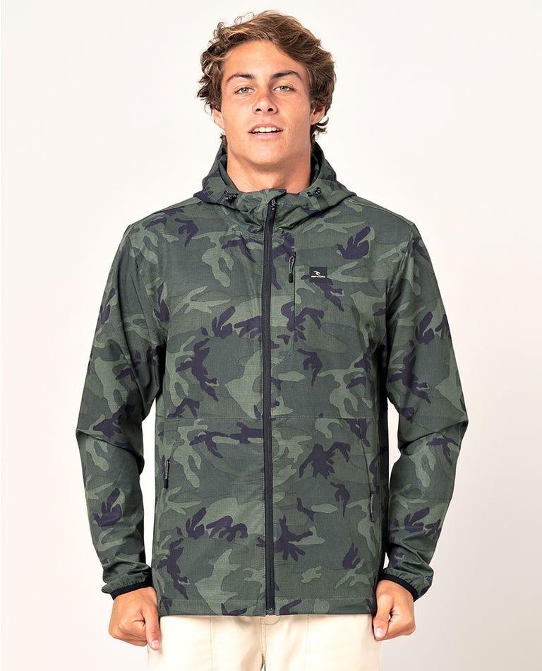 Elite Anti-Series Zip Through Jacket in Camo