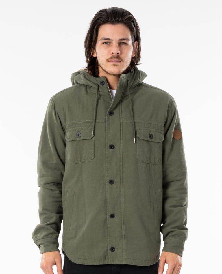 Gibbos Jacket in Dark Olive