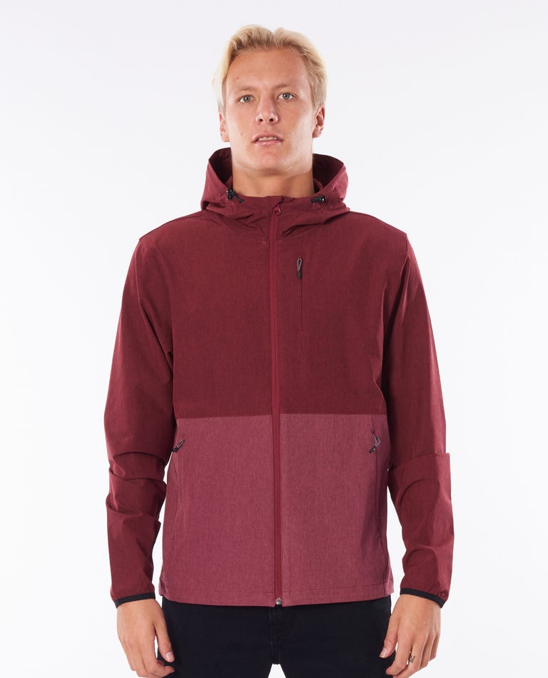 Surf Revival Elite Jacket in Burgundy