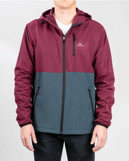Elite Anti Series Windbreaker Jacket in Burgundy
