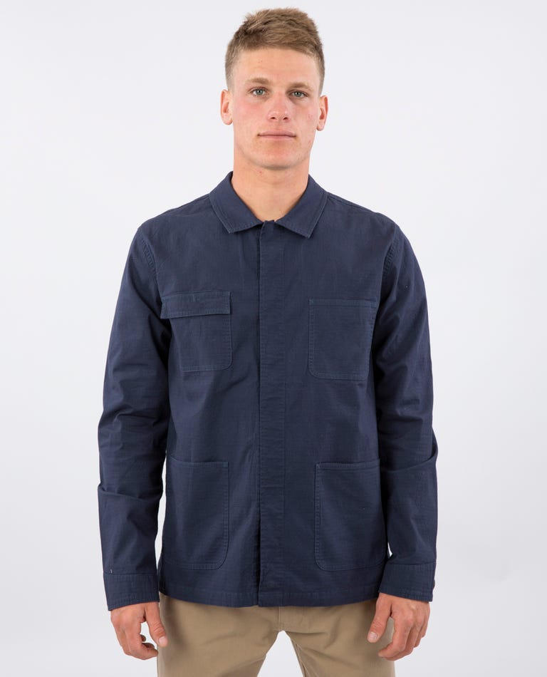 New Wave Chore Jacket in Navy