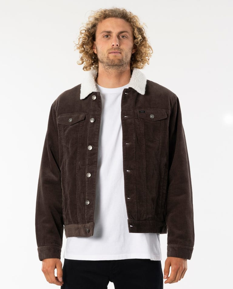 State Cord Jacket in Brown