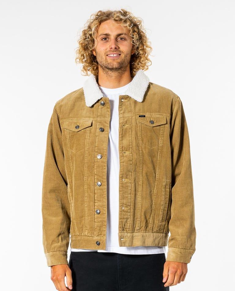State Cord Jacket in Dark Khaki