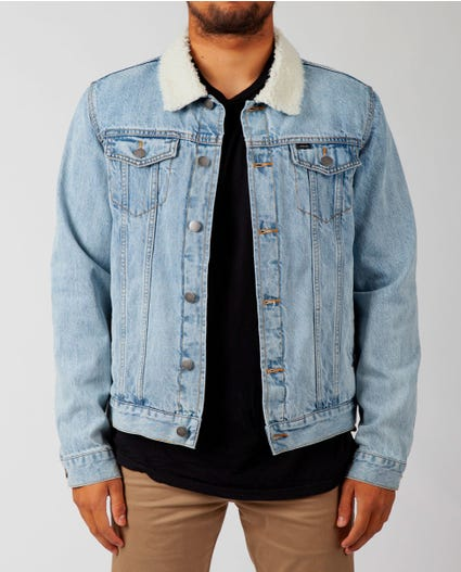 Augustus Washed Denim Jacket in Blue