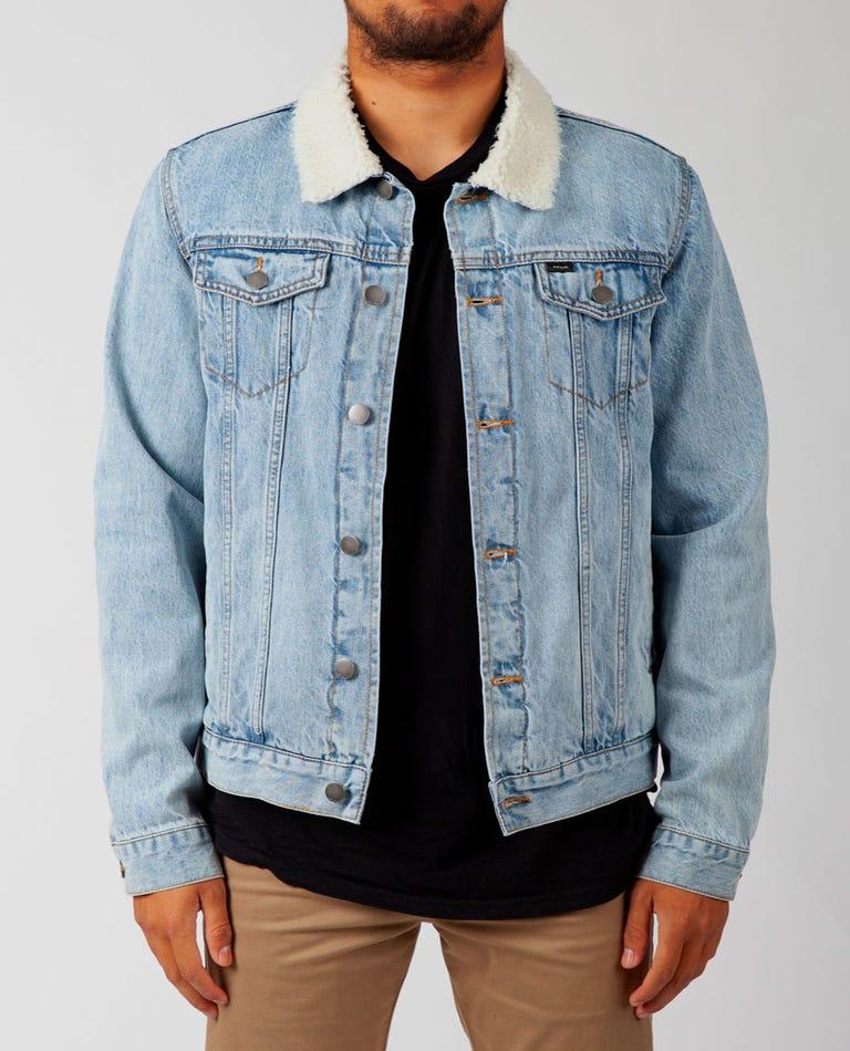 Augustus Washed Denim Jacket in Blue