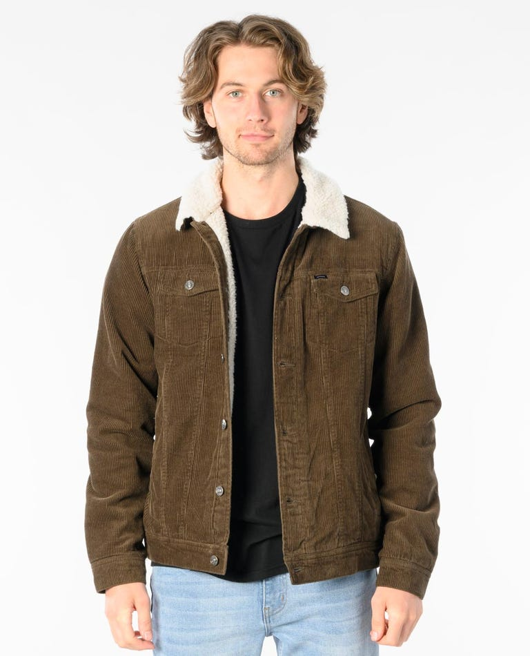 States Cord Jacket in Dark Military Green