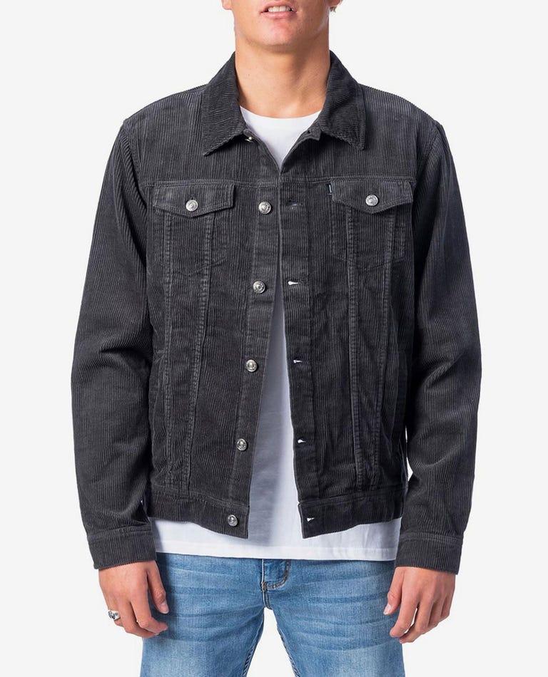 OG Cord Jacket in Washed Black