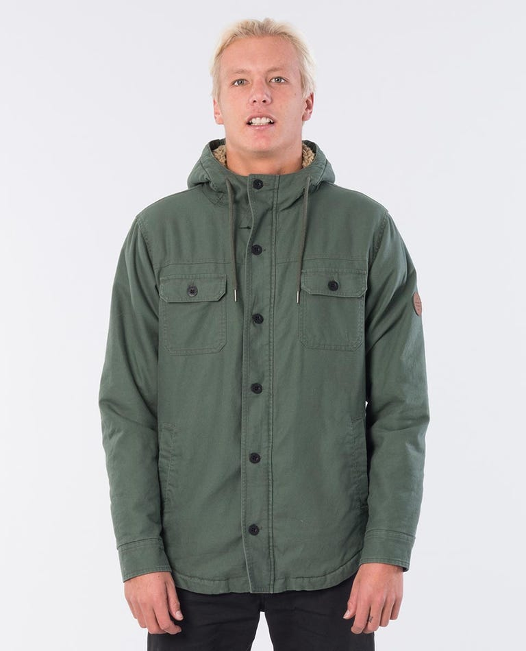 Gibbos Cotton Flannel Jacket in Green