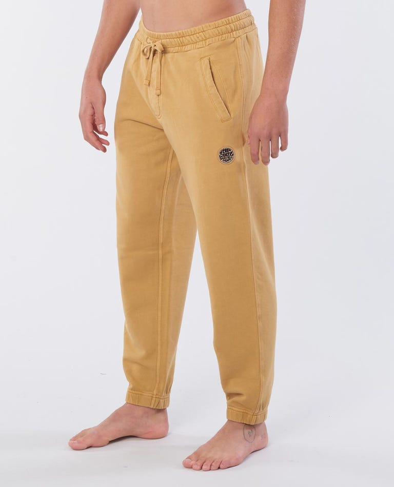 Original Surfers Cotton Track Pant in Mustard