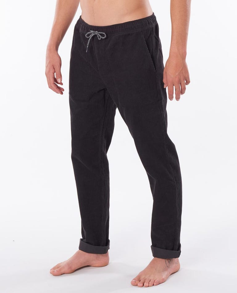 SWC Cord Pant in Washed Black