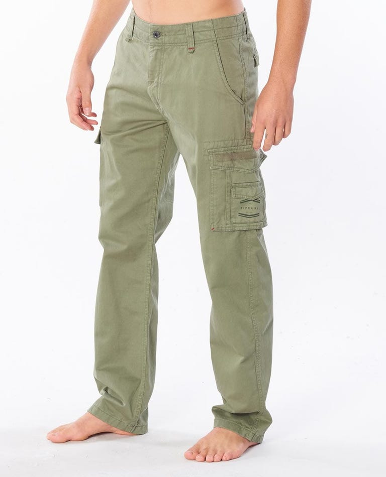 Trail Cargo Cotton Pant in Light Green