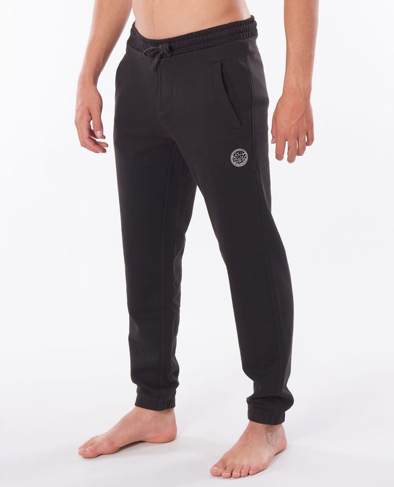 Original Surfers Track Pant in Washed Black