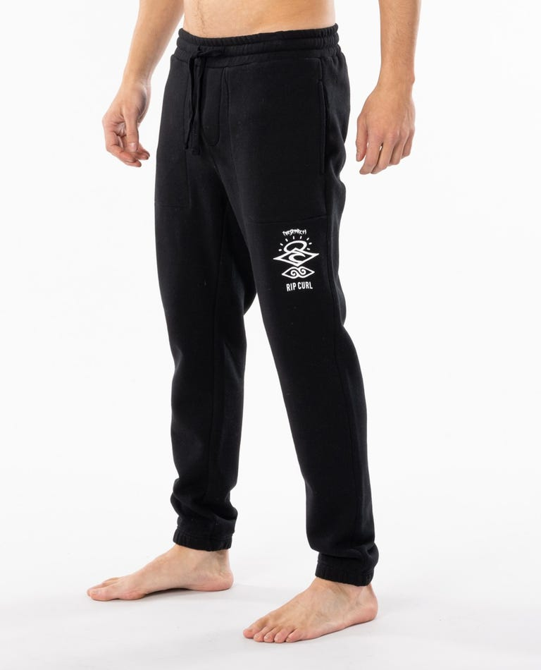 Search Logo Trackpant in Black
