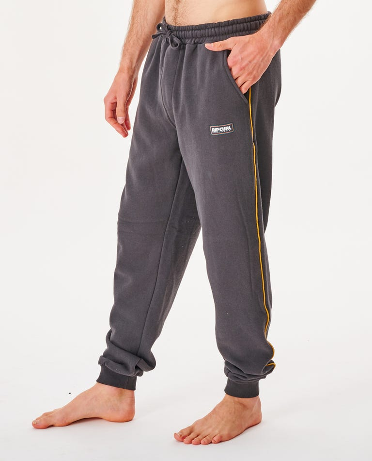 Surf Revival Trackpant in Washed Black