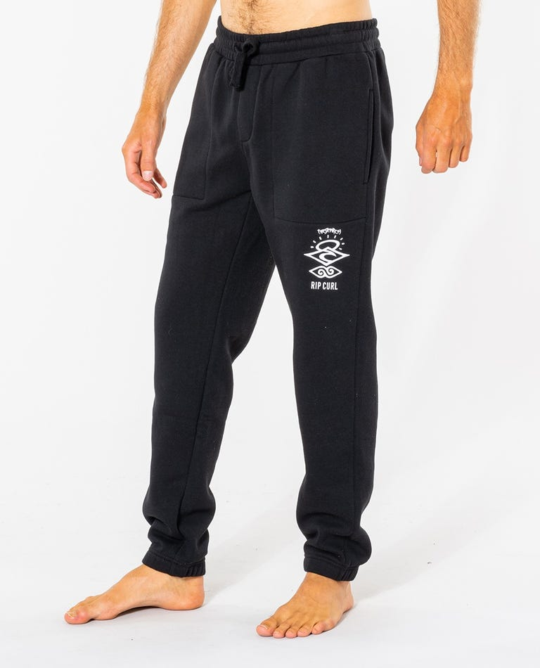 Search Icon Track Pant in Black