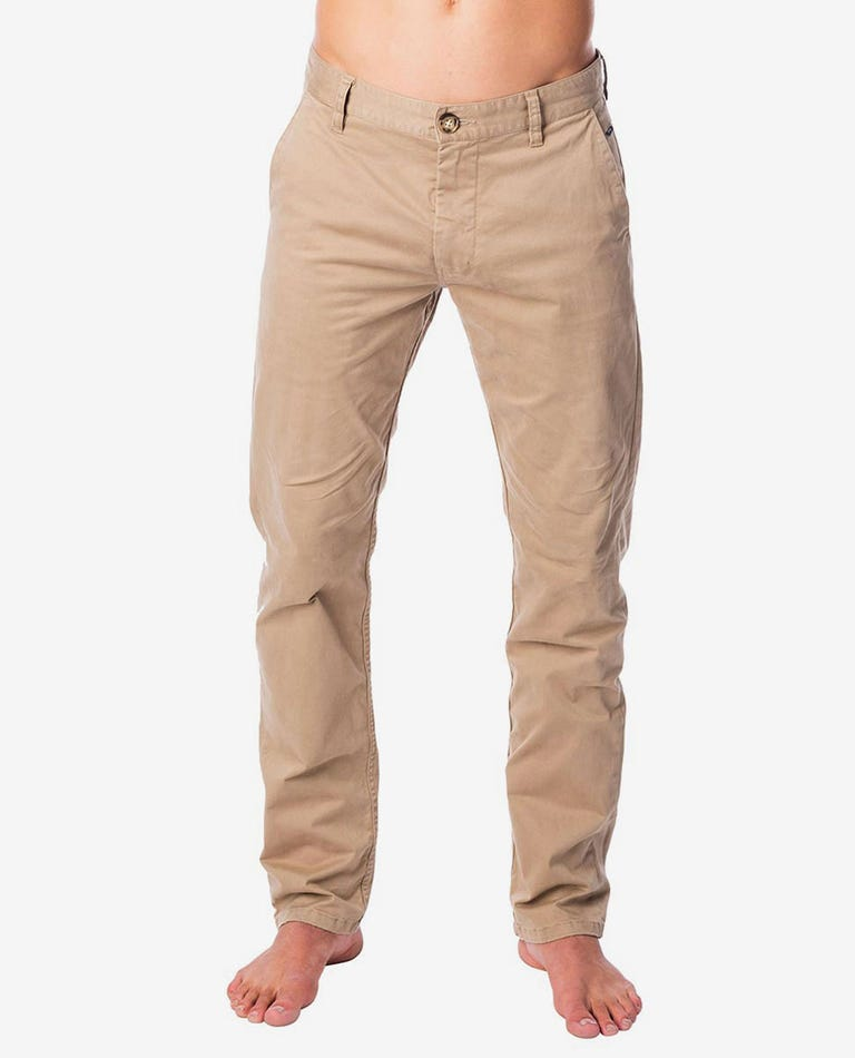 Savage Straight Chino Pant in Khaki