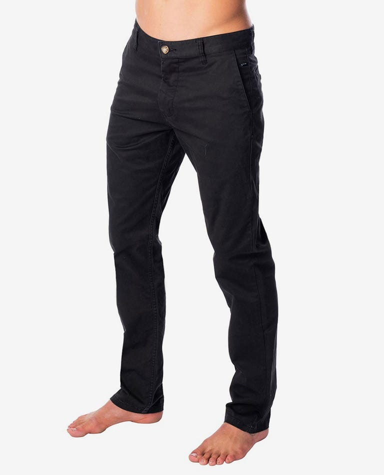 Savage Slim Chino Pant in Washed Black