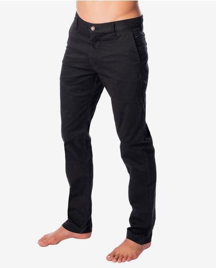 Savage Slim Chino Pant in Washed Black