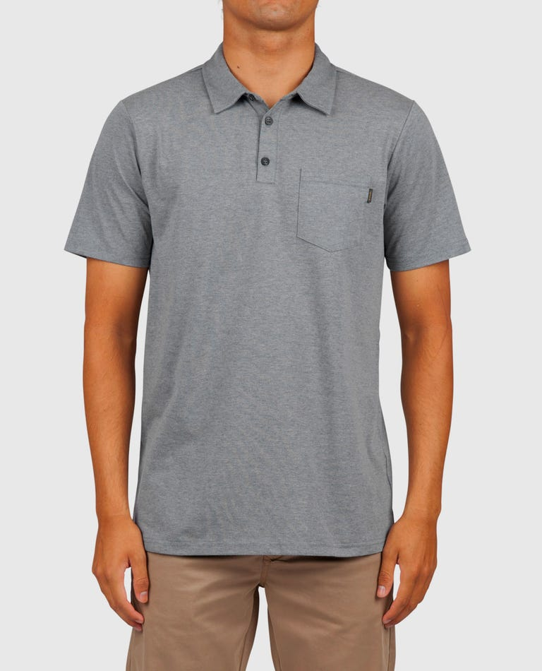 First Class Polo Shirt in Charcoal