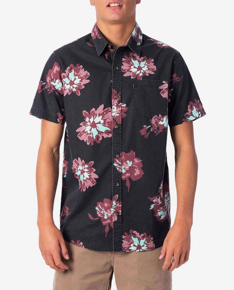 Conner Flyer Short Sleeve Shirt in Black