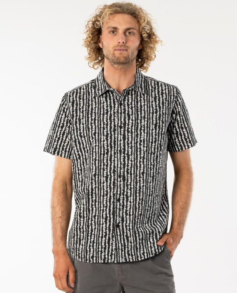 Searchers Short Sleeve Shirt in Washed Black