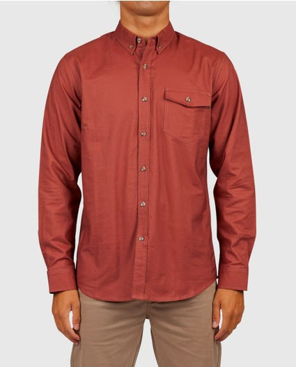Count Long Sleeve Shirt in Rust