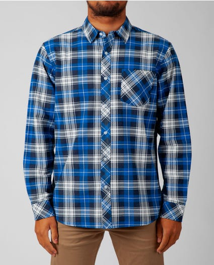 Scout Long Sleeve Flannel in Blue