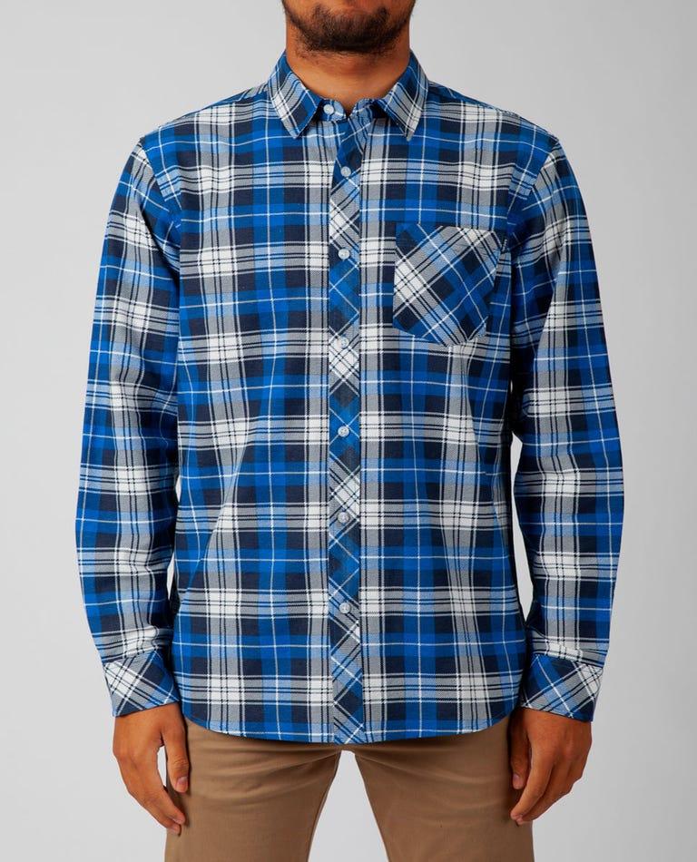 Scout Long Sleeve Flannel in Blue