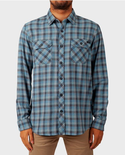 Dixon Long Sleeve Flannel in Blue