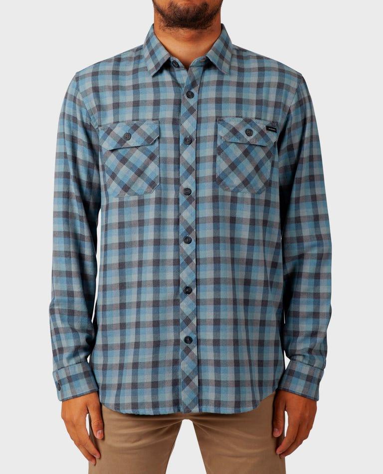 Dixon Long Sleeve Flannel in Blue