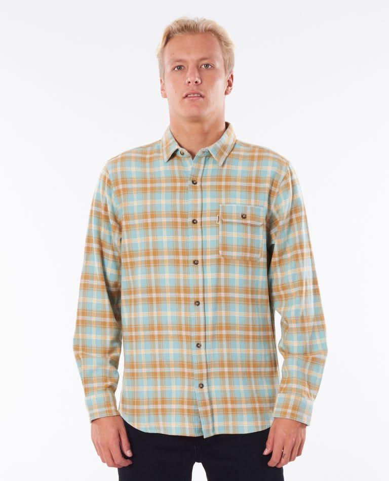 Saltwater Check Long Sleeve Shirt in Mustard