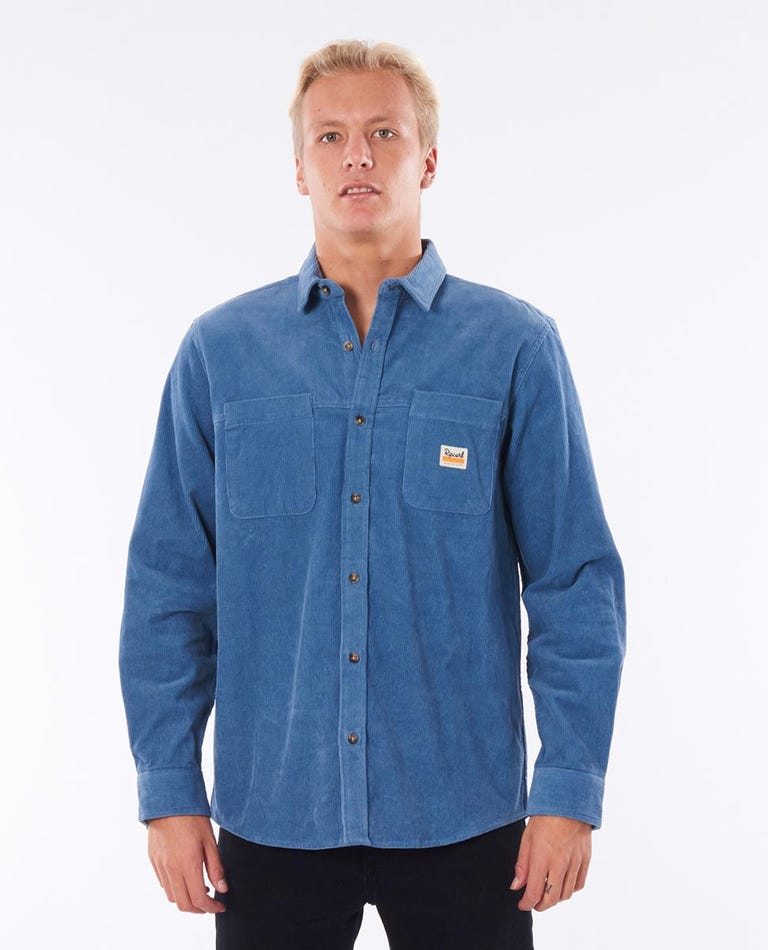 Saltwater Long Sleeve Shirt in Dusty Blue