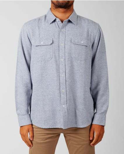 Kodiak Long Sleeve Flannel in Grey